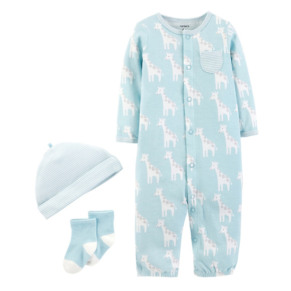 fdb2a789fc5 New Carters Baby Boy Clothes Pajamas Hat Gift Set